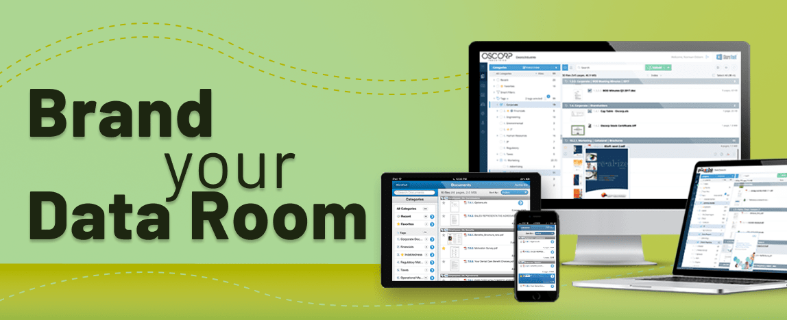 virtual data room customization, branded data room, data room software, virtual data room interface